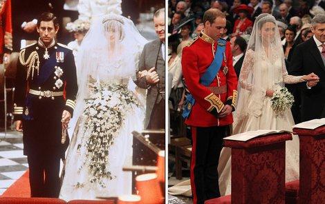 Princ William nasadil u oltáře podobně skleslý výraz jako kdysi jeho táta.