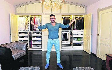 Laffita musí mít v domě samozřejmě i velkou šatnu.