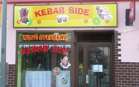 Bistro Kebab Cide v Kostelní ulici v Jirkově.