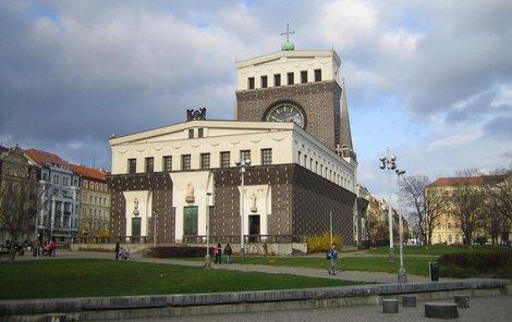 Kostel Nejsvětějšího Srdce Páně na Vinohradech.