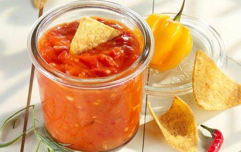 Paprikové čatní můžete použít i jako salsu k mexickým pokrmům.