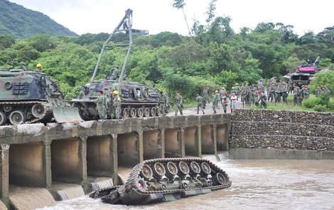 Takhle dopadl tank armády Tchaj-wanu.