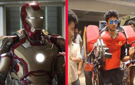 Indický vs. hollywoodský Iron Man.