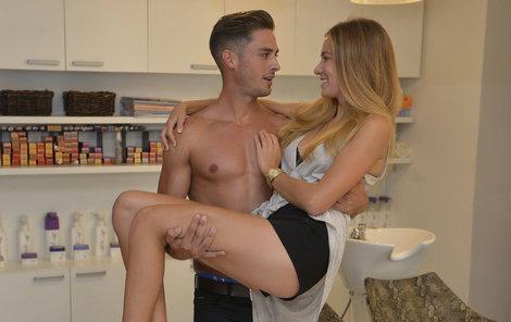 Andrea Bezděková s nejkrásnějším mužem světa v pražském Salonu Bello.