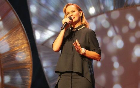 Monika Absolonová vystoupila na sobotním koncertu Kapky naděje.