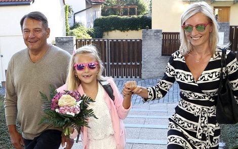 Margaritka, kterou do školy doprovodili máma Petra i táta Jiří, se na výuku těšila. Baví ji prý matematika.