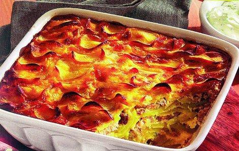 Gratinované brambory s matjesy obohatí váš jídelníček.