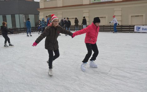 Ledová plocha je v samotném centru Prostějova.