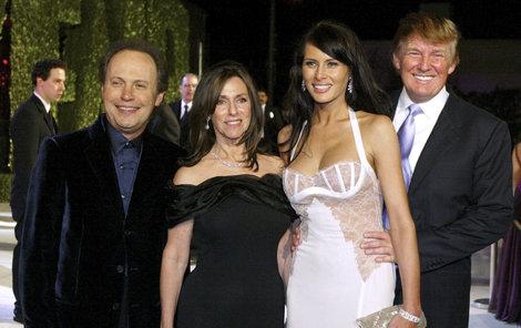 Donald Trump slaví se svou třetí manželkou Melanií.
