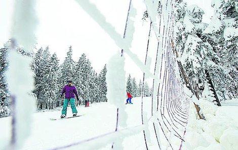 Na Černé hoře v Krkonoších začala včera lyžařská sezona. Sředisko SkiResort Černá hora - Pec pro lyžaře otevřelo sjezdovku Anděl. Lyžaři mají k dispozici zhruba 300 metrů dlouhý úsek.