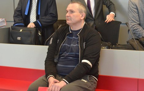 Radek Březina u soudu.