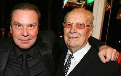 Štefan s tatínkem Jánem (†85), který zemřel v roce 2008.