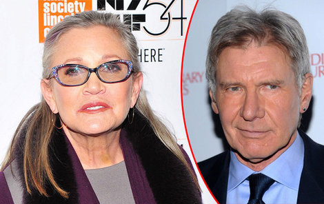 Carrie Fisher a Harrison Ford.