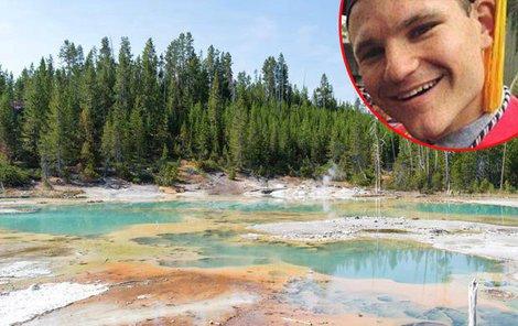 V Yellowstonském parku tryskají gejzíry i o teplotě varu.