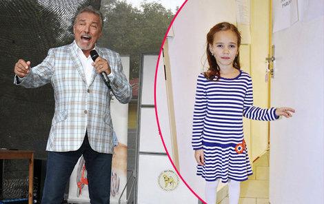 Karel si poprvé zazpíval duet s dcerou.