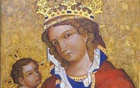 Gotický obraz Madona z Veveří