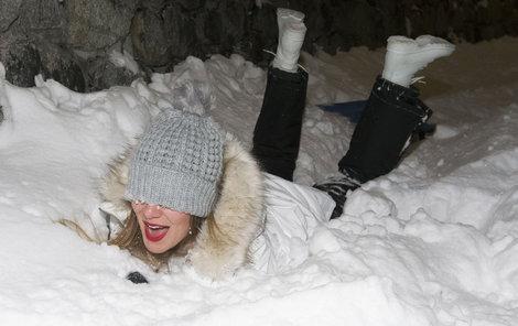 Modelka to v Nízkých Tatrách, kde byla poprvé, pěkně rozjela.