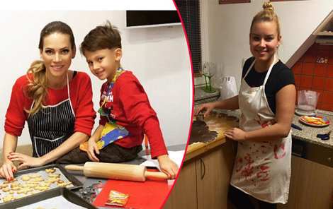 Verešová má malého pomocníka, Solaříková si v kuchyni vystačí sama.