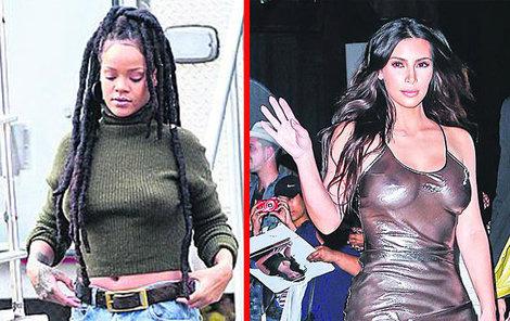 Rihanna a Kim Kardashian.