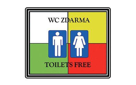 Toto logo budou mít od ledna restaurace a bary v Plzni, kde si bude moci odskočit každý.