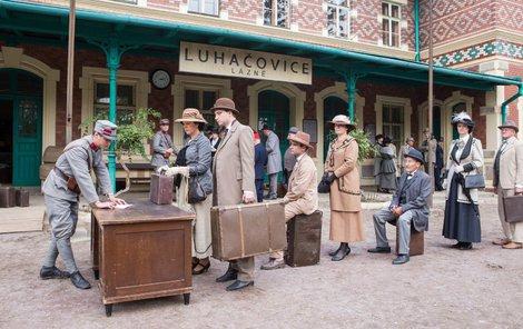 V seriálu si zahrálo nádraží v Lednici, které je krásně dochované.