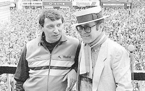 Taylor a Elton John na snímku z roku 1984.