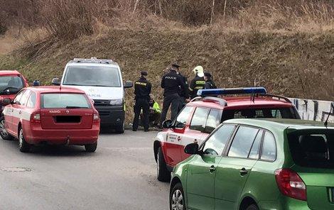 Hasiči našli ohořelé ženské tělo.
