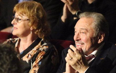 Karel Gott přišel na koncert s tchyní Blankou Krejčí.