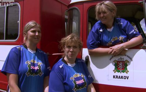 Trio odvážných hasiček se výzev nebojí!