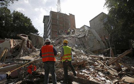 Hrůzostrašné zemětřesení v Mexiku.