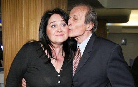 Hana Gregorová s manželem Radkem Brzobohatým
