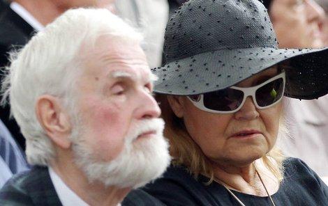 Gabriela Vránová s manželem Jiřím Kepkou