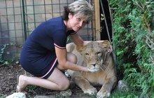 Lenka z Bzence chová na dvorku lvici Miu: Když se jí stýská, vrazím jí dlaň do tlamy...