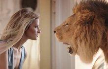 Topmodelka Vojtová: Tváří v tvář lvovi!