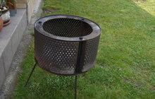 Co se starou pračkou? Z bubnu vyrobte zahradní gril!
