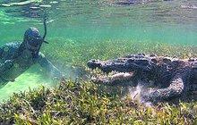 Jak se fotí krokodýli? Podvodní tanec s draky!