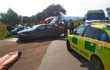Tři zranění ze dvou aut!
