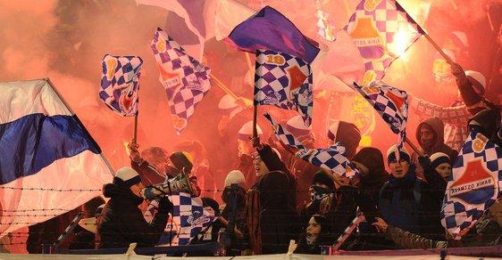 Fanoušci Baníku Ostrava na deset minut přerušili utkání v Mladé Boleslavi