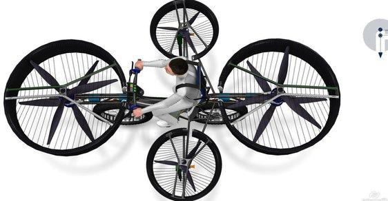 Jan Tleskač by měl radost, české firmy navrhly létající kolo. Podívejte se