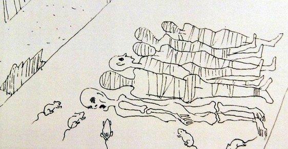 Mrtvoly bez očí a popravy těhotných. Uprchlíci z KLDR nakreslili otřesné zážitky z táborů smrti