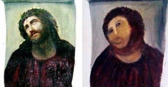 """Neberte nám zpackaného Ježíše! Internet soutěží v """"restauraci"""" Ecce homo. Zkusíte to taky?"""