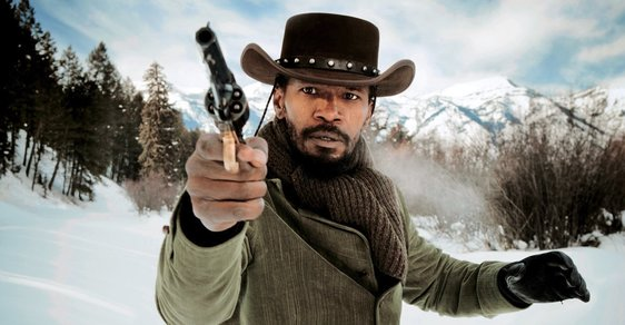Jamie Foxx  vtitulní roli filmu Nespoutaný Django
