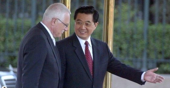 Čína, Václav Klaus