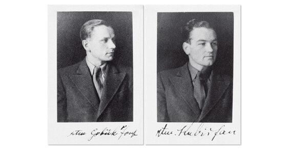 Snímky Gabčíka a Kubiše pořízené v Londýně před jejich výsadkem do protektorátu