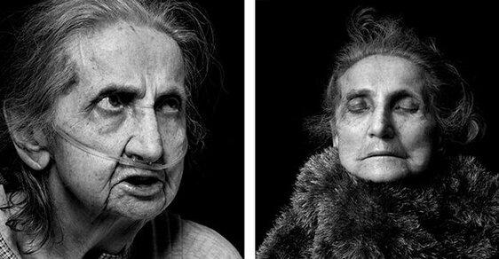 Jak nás změní smrt: Fotografie lidí před a krátce po skonu