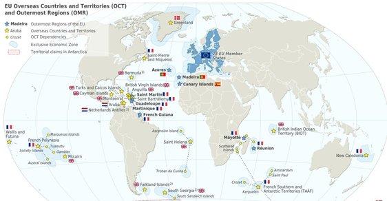 Kde všude mají státy Unie svá území.