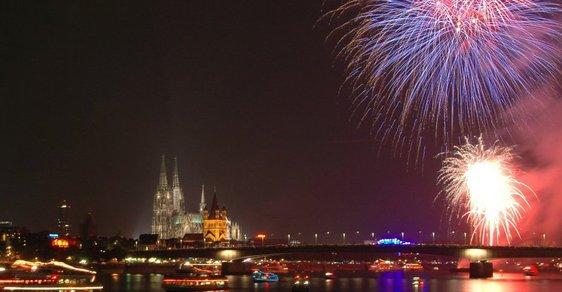 Silvestrovské oslavy v Kolíně nad Rýnem