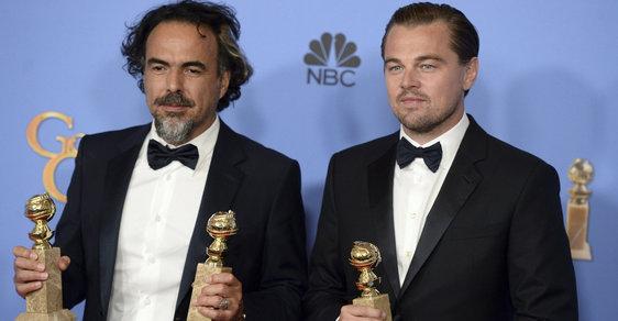 Leonardo DiCaprio s tvůrcem filmu Zmrtvýchvstání