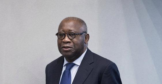 Laurent Gbagbo před haagským tribunálem.