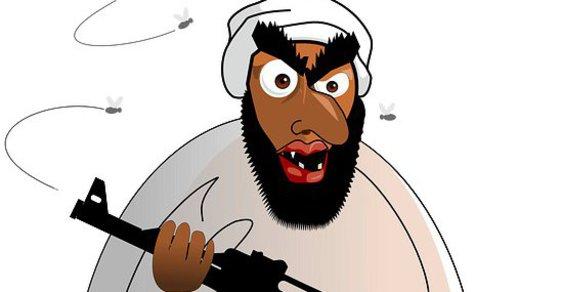 Islámský bojovník - ilustrace